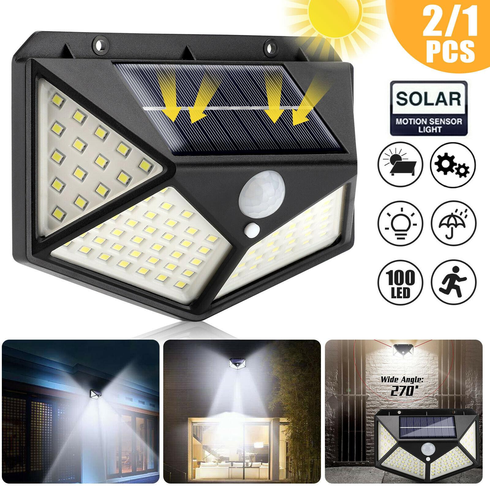 Lámpara Led Solar impermeable para exteriores con Sensor de movimiento, 100 LED, SHOPLED