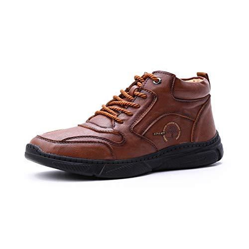Zapatos de invierno para hombre, de cuero - gracosy