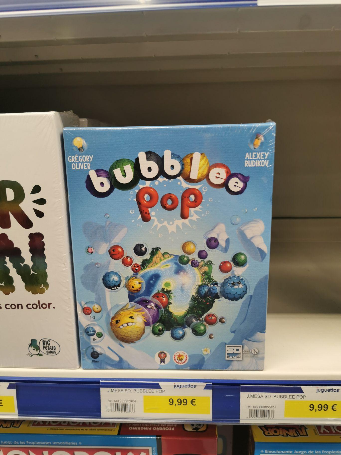 Bubblee Pop Juego de Mesa