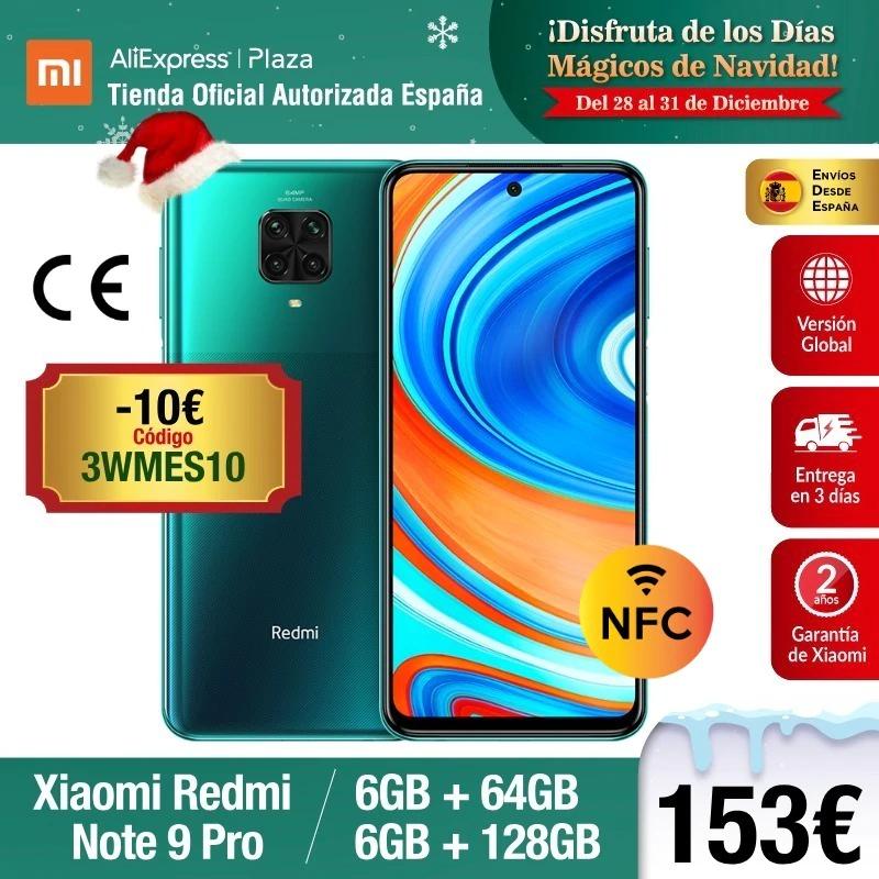 Redmi Note 9 Pro 6 Gb RAM + 128 Gb ROM Negro enviado desde España (Precio mínimo)