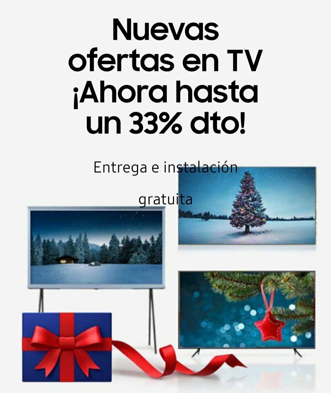 Hasta un 33% en tv Samsung