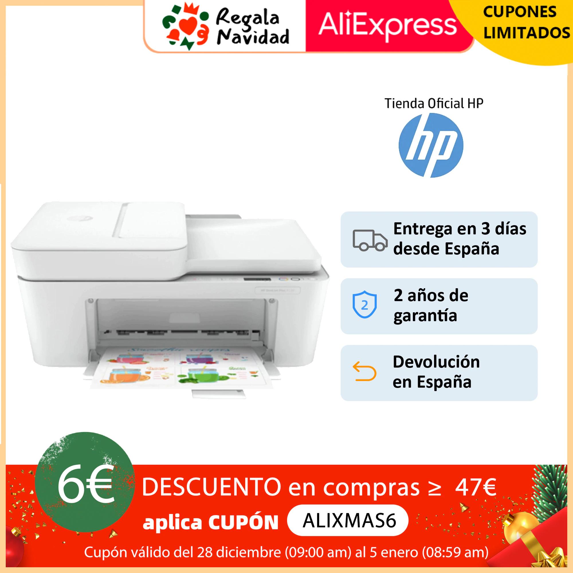 Impresora multifunción de tinta HP DeskJet Plus 4120 (3XV14B): Imprime, escanea y copia - compatible con Instant Ink