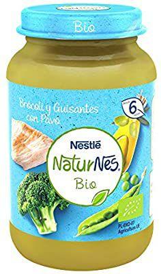 Nestlé Naturnes Bio Pure Brócoli Guisantes Pavo Para BebésDesde 6 Meses - Pack de 12 tarritos 190g