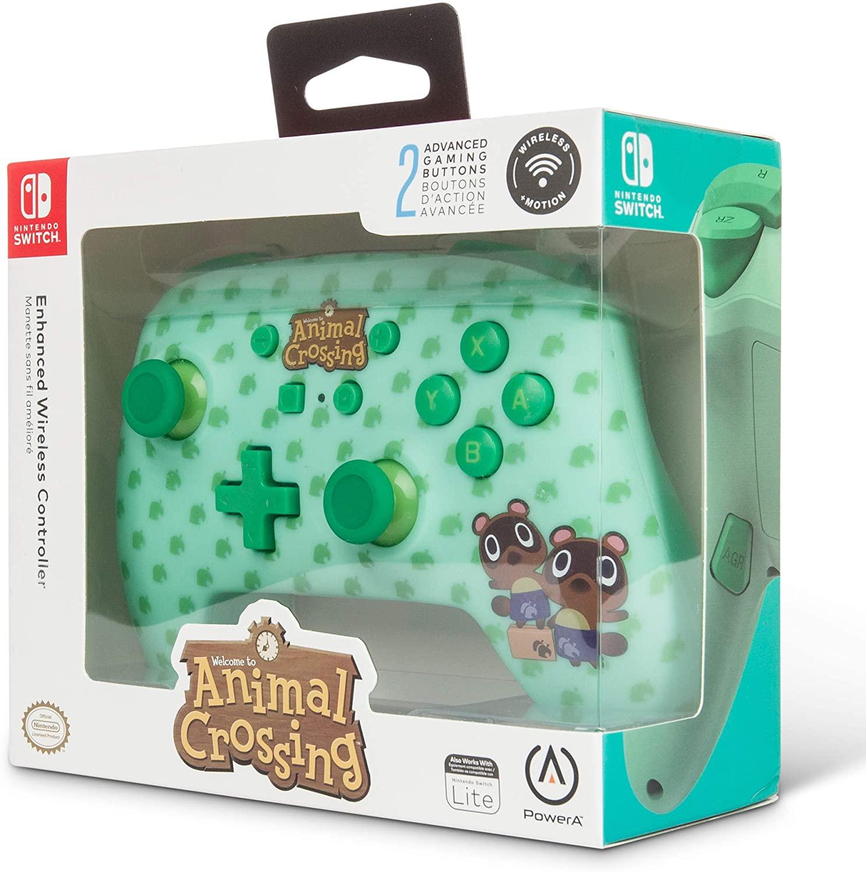 Mando oficial inalámbrico NINTENDO con diseño Animal Crossing (AlCampo)