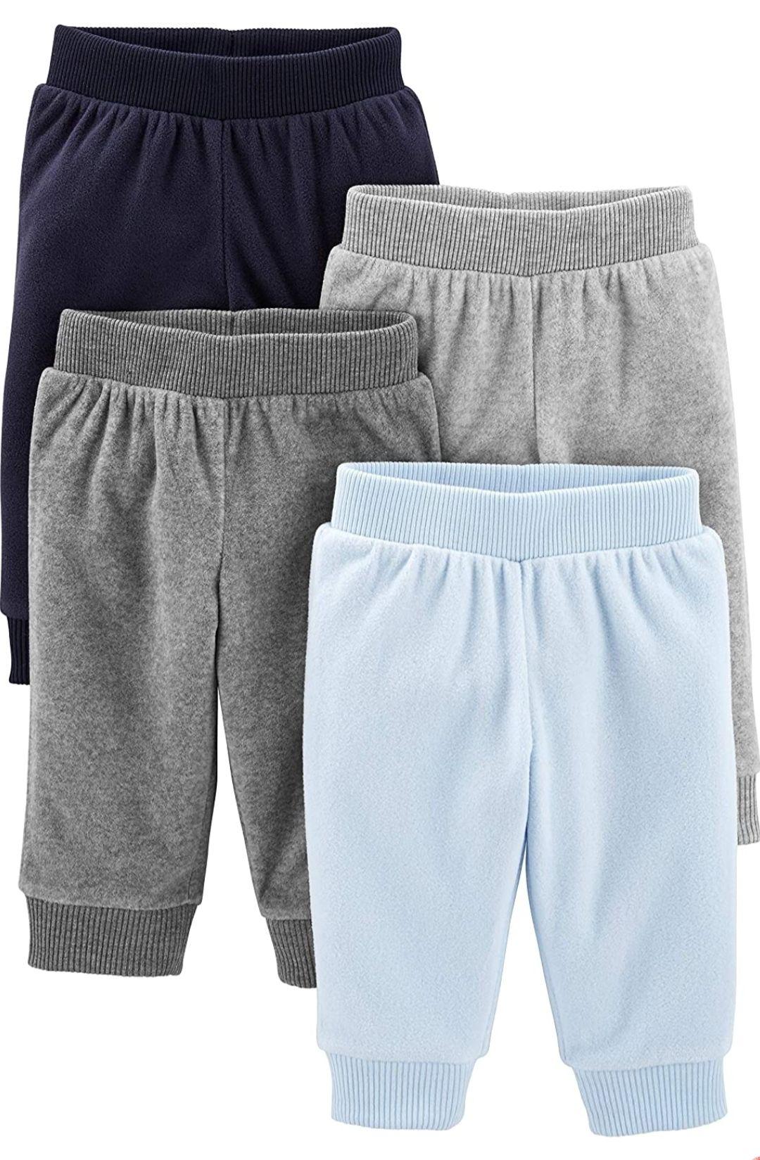Pack 4 pantalones de forro polar para bebés prematuros