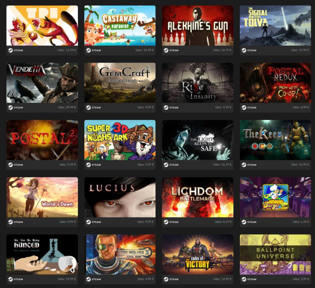 Mega Bundle - 20 juegos para Steam a 2,99€