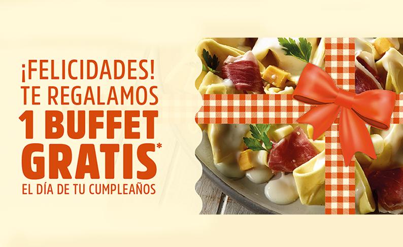 Buffet gratis por tu cumple en Muerde la Pasta