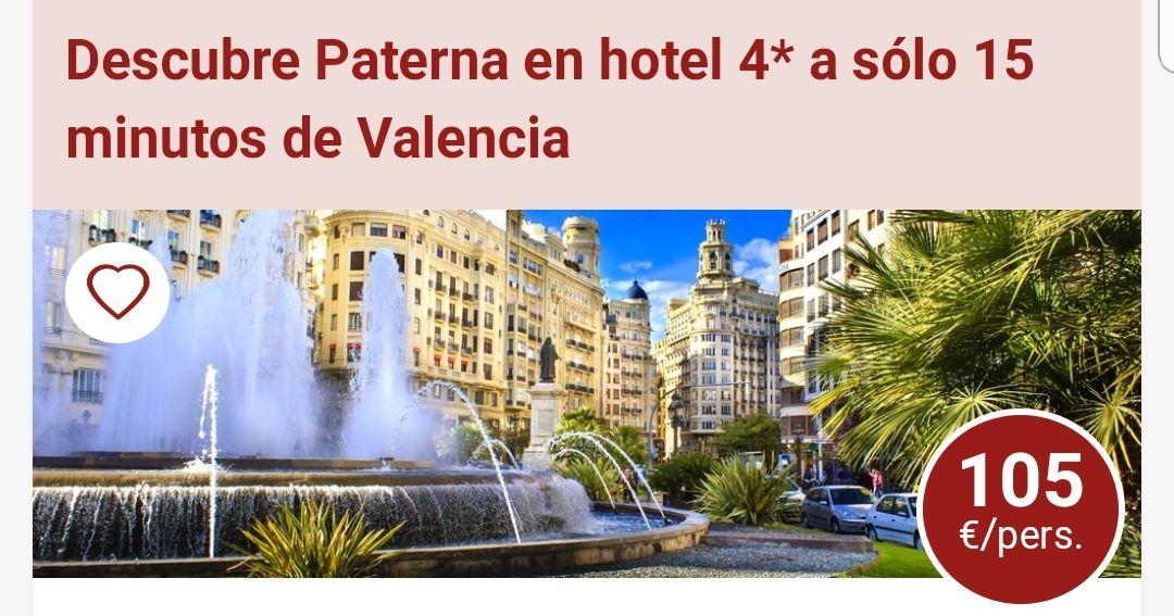 Hotel en a 15 mins de valencia 105€/persona