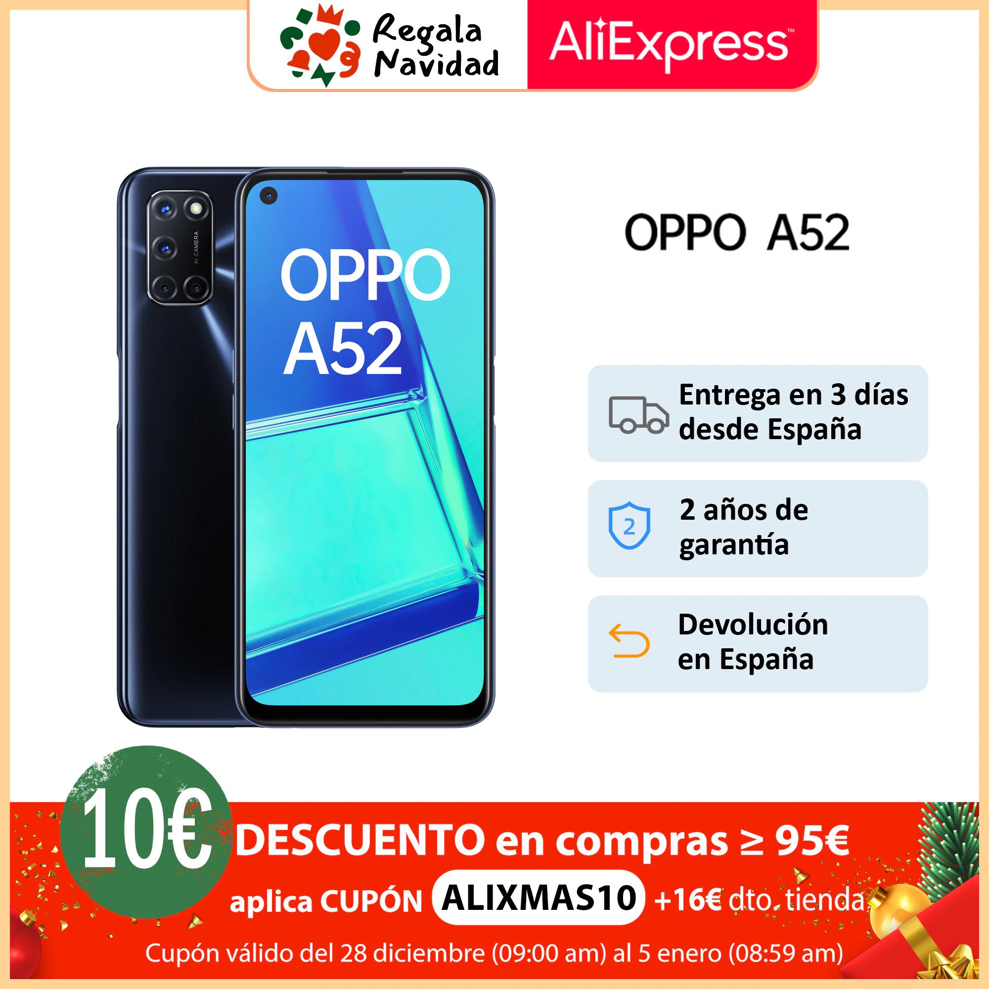 OPPO A52 4GB/64GB desde ESPAÑA *DESCUENTO VENDENDOR de 16€ + CODIGO DESCUENTO de 10€*