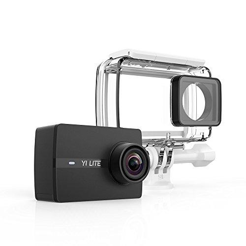 YI Lite Cámara de acción 16MP 4K con carcasa impermeable,Cámara deportiva, pantalla táctil LCD de 2.0 '', lente de gran angular de 150 °, Wifi y APP para IOS / Andriod - color Negro