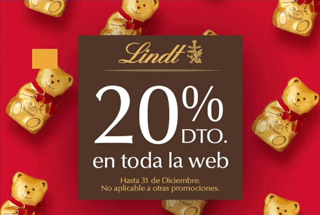 Descuento del 20% en toda la web de Lindt