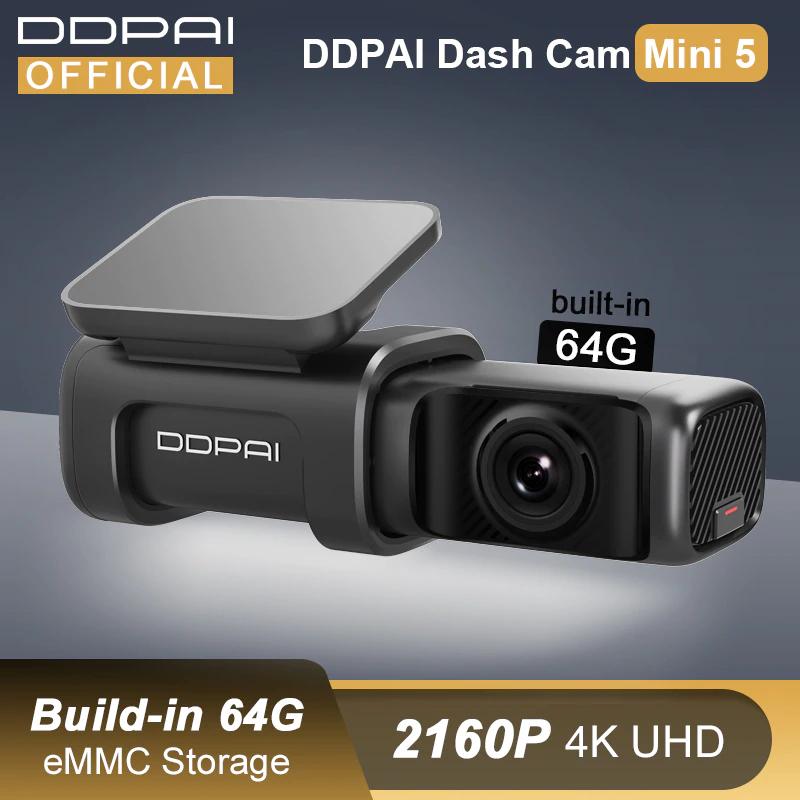 Cámara de salpicadero Mini 5 DDPAI UHD DVR para coche, Android, 4K, Wifi integrado, GPS, aparcamiento 24H, 2160P