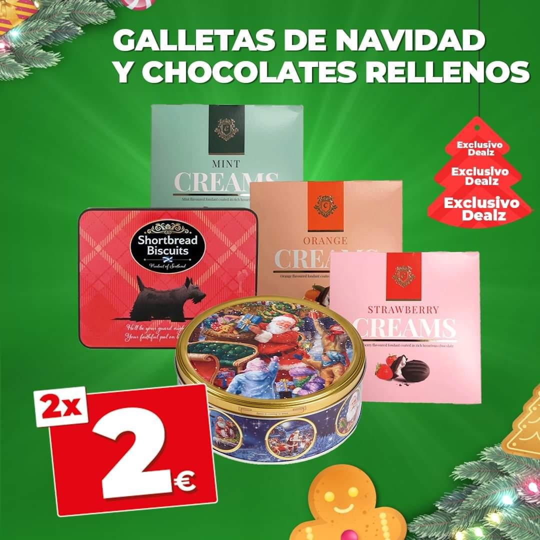 En Dealz 2 cajas de chocolates rellenos o 2 cajas de galletas a 2 euros ( Combinalas como quieras )