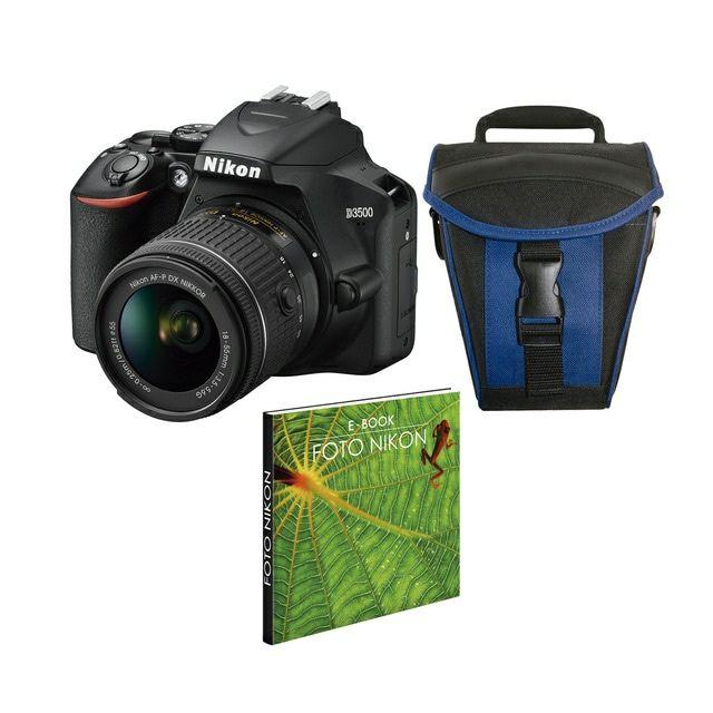 Cámara réflex Nikon D3500 con Objetivo AF-P DX 18-55 mm Kit