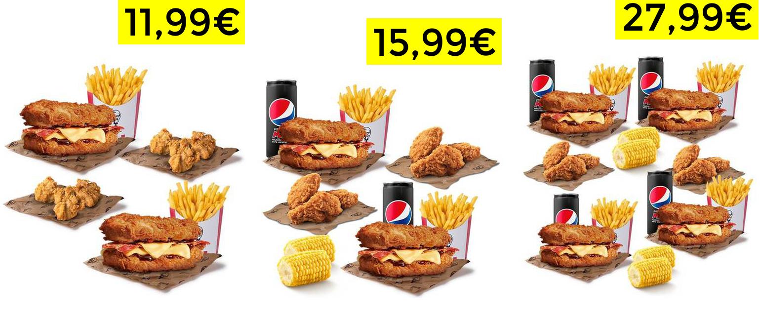 2x1 en menú Infame KFC pidiendo en Uber Eats