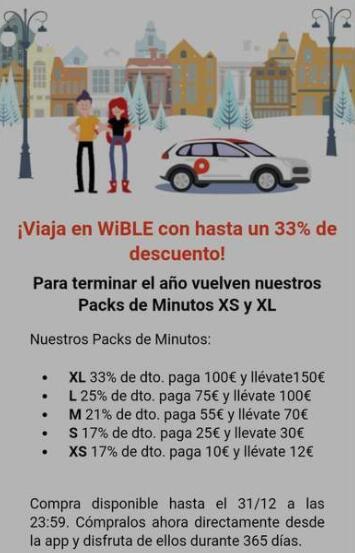 Hasta un 33% de descuento en todos los packs de minutos de Wible