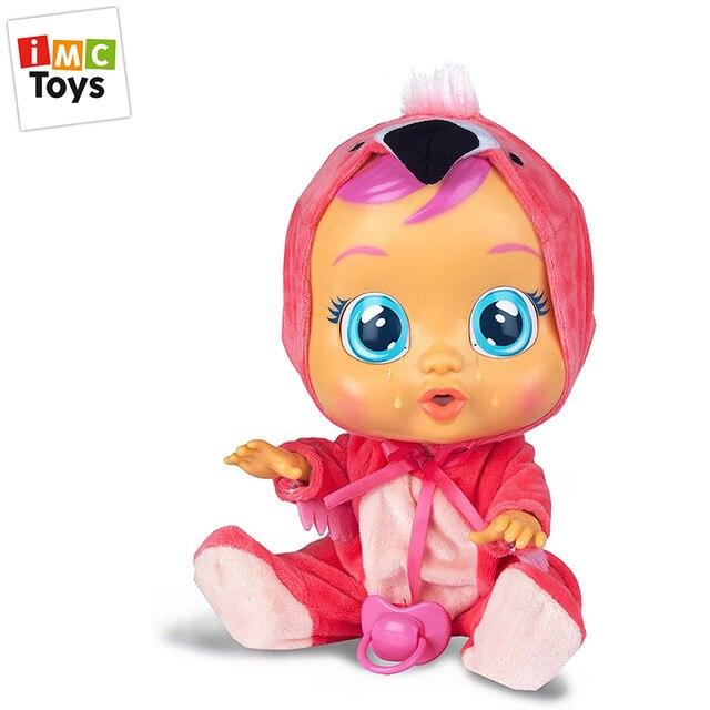 IMC Toys - Bebés Llorones, Bebé Fancy con pijamita de flamenco