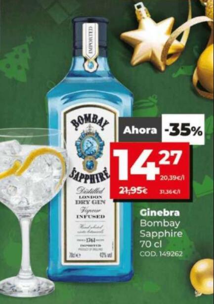 Bombay shappire 14,27€ (a partir del 30/12) en Supermercados DIA