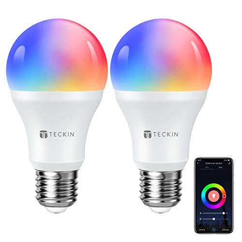2x Bombillas RGB compatibles con ALEXA y Google Home