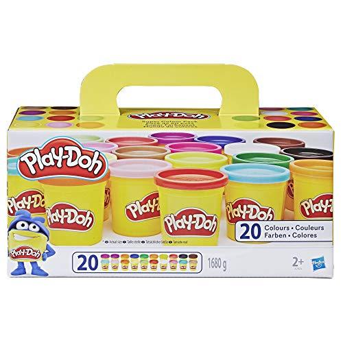 Play-Doh-Pack 20 Botes, color surtido, (Hasbro A7924EUC)
