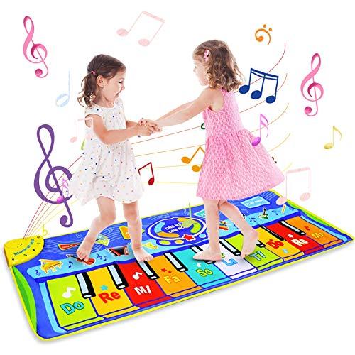 BelleStyle Alfombra de Piano, 130*48 cm Grande Alfombra Musical para Niños