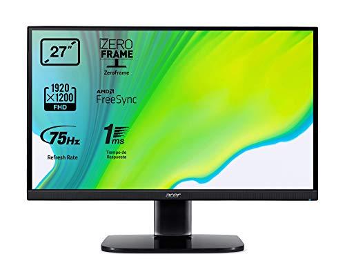 """Acer KA272A - Monitor de 27"""" Full HD, con ZeroFrame y FreeSync, 250 nits, Tiempo de Respuesta de 1ms"""