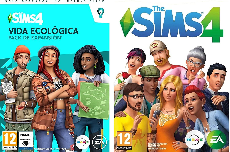 Sims 4 juego base + una expansión - código Origin