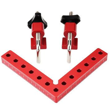 Drillpro Abrazaderas de posicionamiento de ángulo recto para carpintería 100 mm