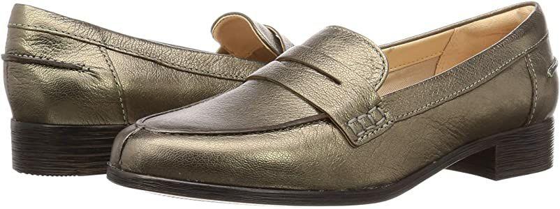 TALLA 40 - CLARKS Hamble Loafer, Mocasines de cuero para mujer