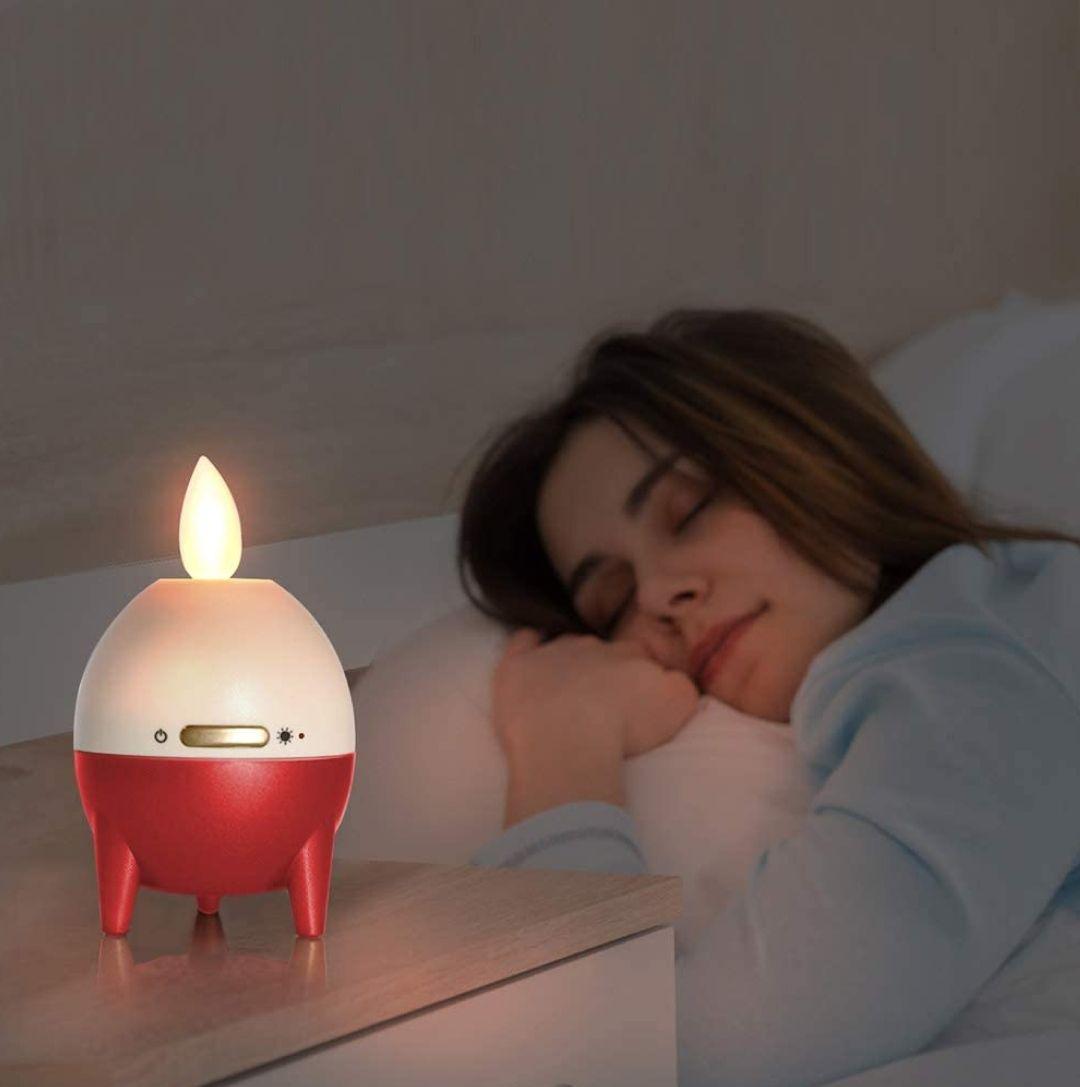 Lámpara - mini altavoz -Bluetooth 5.0 TWS - USB portátil inalámbrico con vela Luz LED
