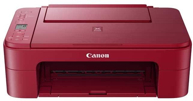 Impresora multifunción - Canon PIXMA TS3352, Wi-Fi, 4800 x 1200 DPI, 60 hojas, 7.7 ipm, Rojo