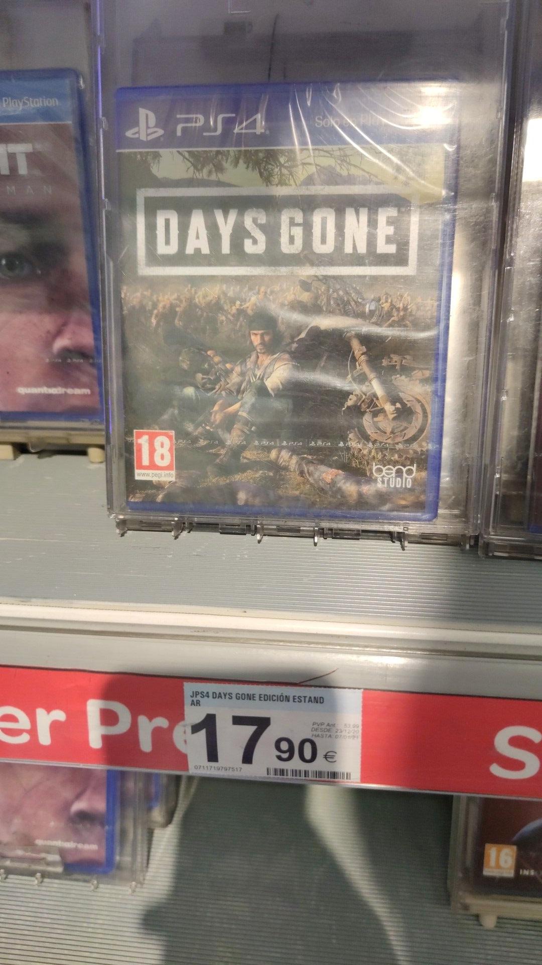 Days Gone ed estándar 17.90€ en el carrefour del centro comercial meridiano