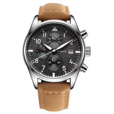 Reloj con cronómetro y varias subesferas para hombre.