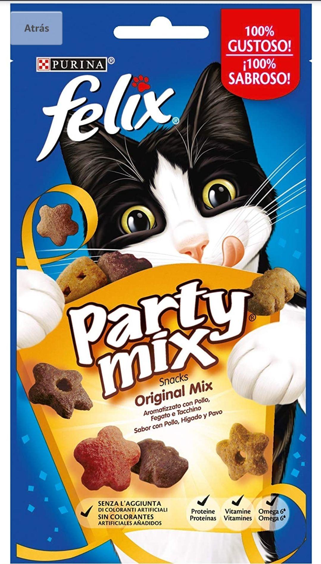 8×60g de Chuches para gatos Purina Félix Party Mix