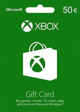 Tarjeta 50€ para Microsoft Store / Xbox