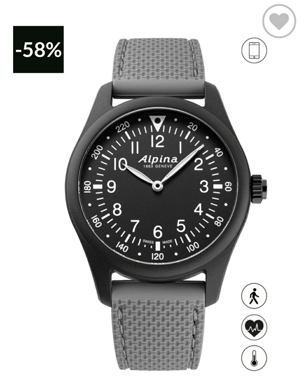 Reloj ALPINA GENEVE (Hay más modelos en oferta en web oficial de la marca). Leed descripción para acceder.