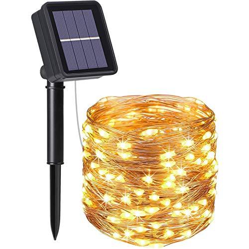 flintronic® Guirnalda de Luces Solares, 1PCS/100LED Luces Jardín (8 Modos)10M Impermeable