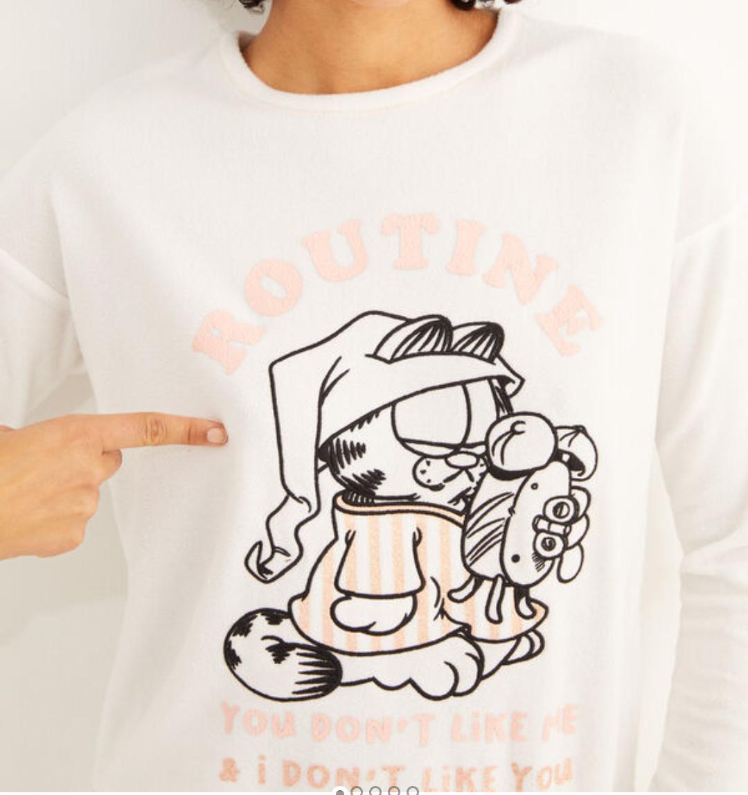 Pijama largo polar 2 modelos (Garfield y Wonder Woman)