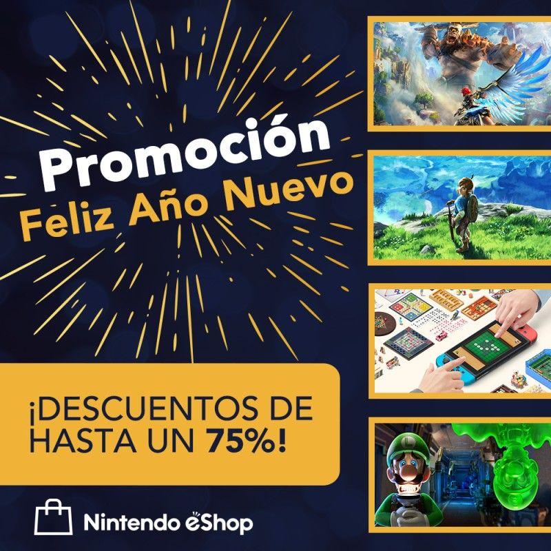 """Promoción """"Feliz Año Nuevo 2021 Nintendo switch"""