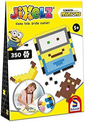Schmidt Spiele Jixelz, Minions, 350 Piezas, Juego de Manualidades para niños