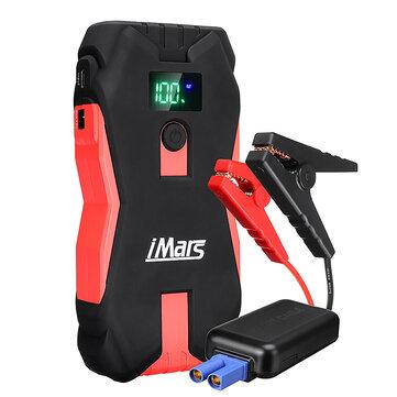 Arrancador portátil para coche iMars J02 1300A 16000mAh Powerbank Amplificador de batería de emergencia con linterna LED Puerto USB