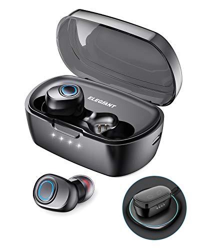 ELEGIANT Auriculares Bluetooth 5.0, TWS Mini Cascos Inalámbricos 60 horas de carga