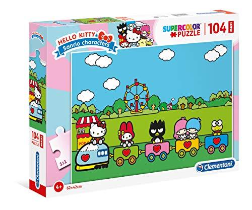 Clementoni- Puzzle 104 Piezas Maxi Hello Kitty