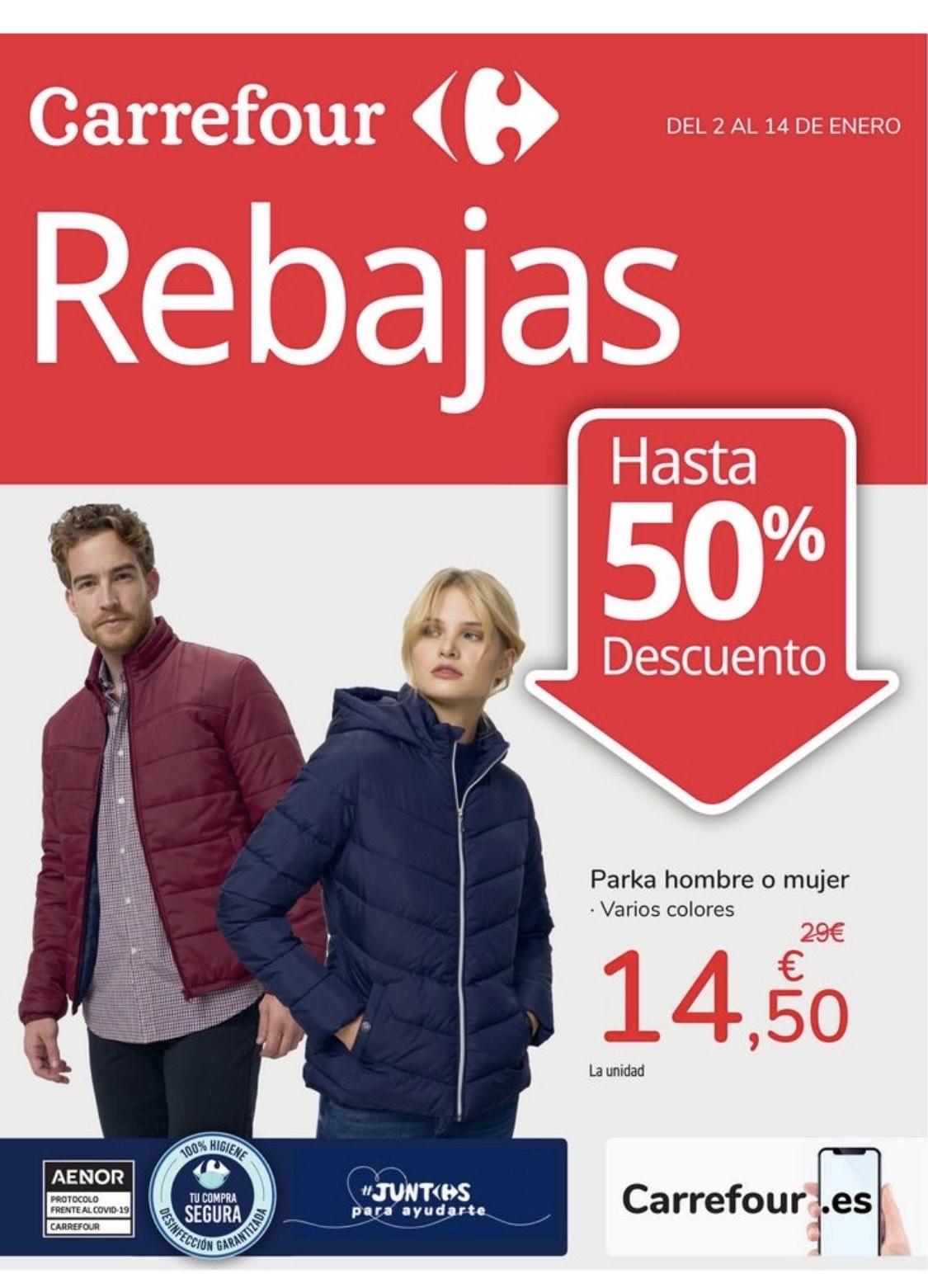 Rebajas en Carrefour hasta el 50%, en hombre, mujer, bebé y niñ@
