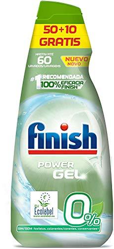 3x2 Pack Ahorro Finish Power Gel 0% Detergente Gel Lavavajilla con Certificado Ecológico - 180 Dosis