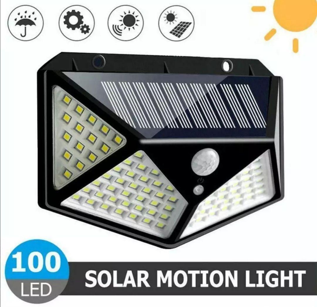 Lámpara Solar Led para exterior lámpara de pared con Sensor de movimiento, IP65, 20W, 100 Leds