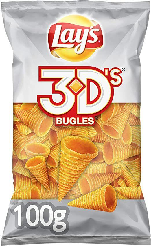 3 bolsas Lay's Buggles 3D's originales (3×2)