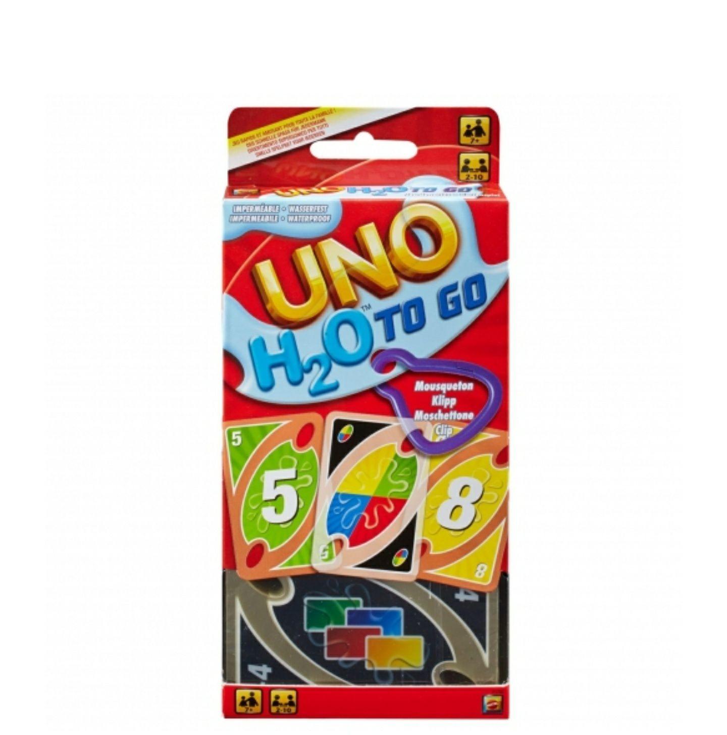 UNO H20 To Go, juego de cartas