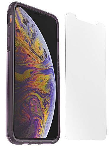 Otterbox Pack Clear Case, Funda Anti Caídas Fina, Color Transparente/Violeta y Protector de Pantalla Cristal Templadopara iPhone X/XS