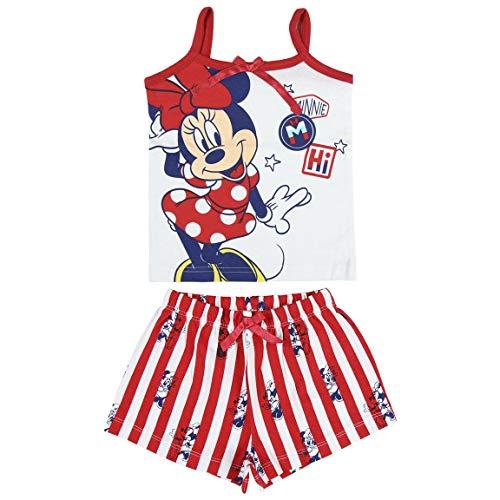 Pijama de Minnie Mouse - Camiseta + Pantalon de Algodón